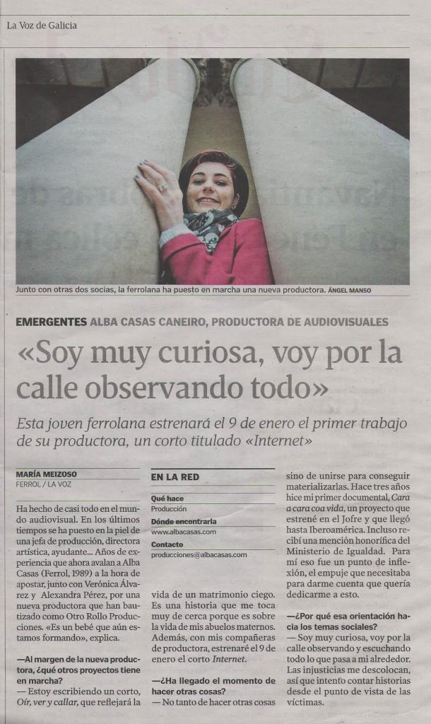 La Voz de Galicia (11-11-2014)